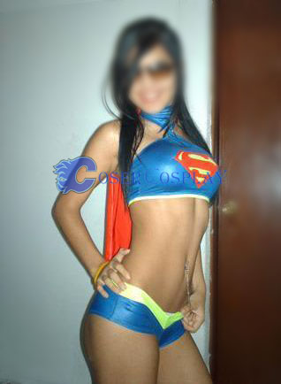 Supergirl Sexy Halloween Costumes For Women Blue Hot